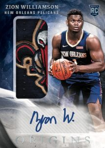 Rookie Jersey Auto Zion Williamson MOCK UP