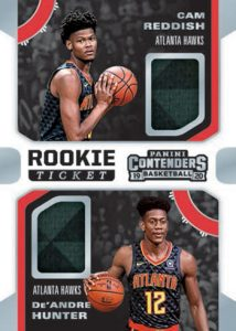 Rookie Ticket Dual Swatches Cam Reddish, De'Andre Hunter MOCK UP