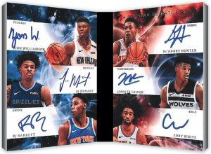 Six Star Signatures Booklet Cion Williamson, Ja Morant, RJ Barrett, De'Andre Hunter, Jarrett Culver, Coby White MOCK UP