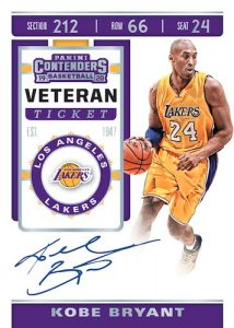 Veteran Season Ticket Auto Kobe Bryant MOCK UP