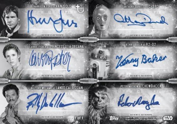 6-Person Auto Harrison Ford, Carrie Fisher, Billy Dee Williams, Anthony Daniels, Kenny Baker, Peter Mayhew