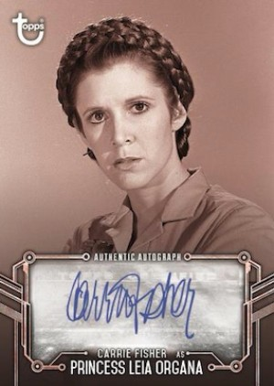 Autos Red Hue Shift Carrie Fisher as Princess Leia