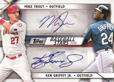 Baseball Stars Dual Auto Mike Trout, Ken Griffey Jr MOCK UP
