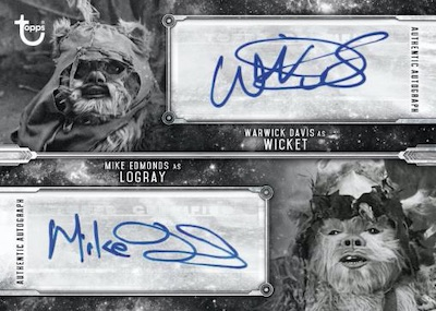 Dual Auto Warwick Davis as Wicket, Mike Edmonds as Logray