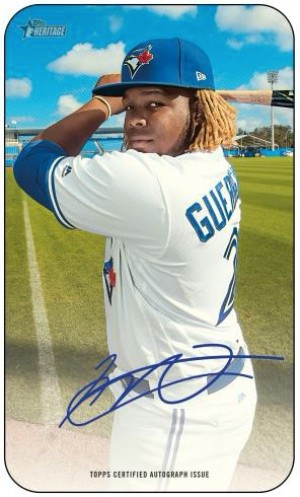 1971 Topps Super Baseball Auto Vladimir Guerrero Jr MOCK UP