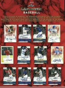 2019 Leaf Ultimate Draft Baseball