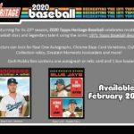 2020 Topps Heritage Baseball