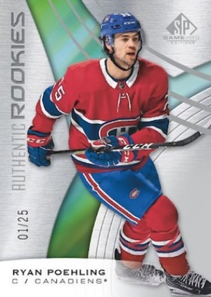 Base Authentic Rookies Ryan Poehling MOCK UP