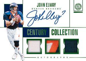 Century Collection Auto Relic John Elway MOCK UP