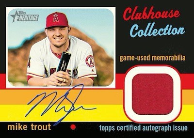 Clubhouse Collection Auto Relics Mike Trout MOCK UP