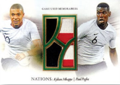 Nations Dual Relics Kylian Mbappe, Paul Pogba