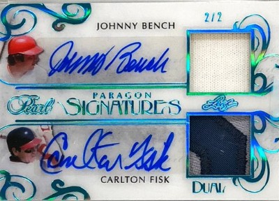 Paragon Signatures 2 Johnny Bench, Carlton Fisk