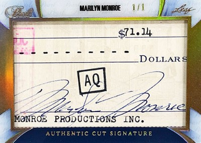 Pearl Cut Signatures Marilyn Monroe