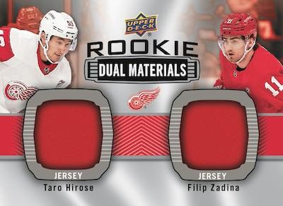 Rookie Dual Materials Taro Hirose, Filip Zadina