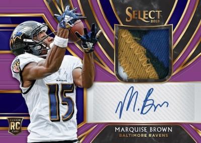 Rookie Signature Memorabilia Purple Marquise Brown MOCK UP
