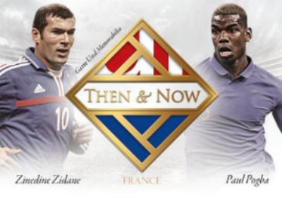 Then & Now Dual Relics Zinedine Zidane, Paul Pogba