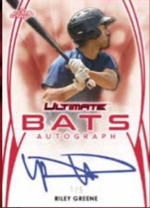 Ultimate Bats Auto Riley Greene