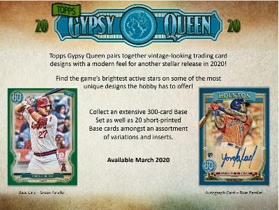 2020 Topps Gypsy Queen Baseball