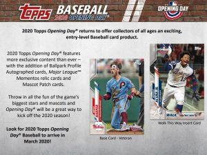 2020 Topps Opening Day Baseball