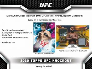 2020 Topps UFC Knockout