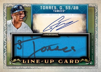 Auto Lineup Card Gleyber Torres MOCK UP