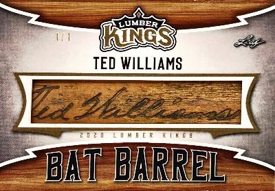 Bat Barrel Relics Ted Williams