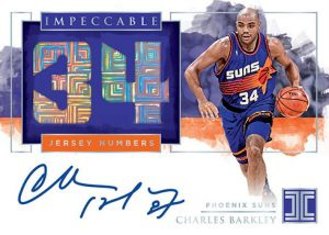 Impeccable Jersey Number Auto Charles Barkley MOCK UP