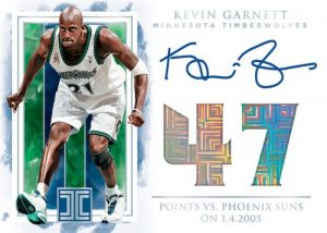 Impeccable Stats Auto Kevin Garnett MOCK UP