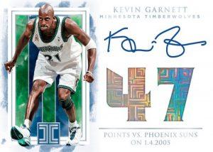 Impeccable Stats Auto Kevin Garnett MOCK UP