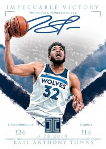 Impeccable Victory Signatures Karl-Anthony Towns MOCK UP