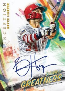 Inception Dawn of Greatness Auto Bryce Harper MOCK UP