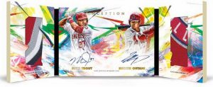 Inception Dual Auto Relic Book Shohei Ohtani, Mike Trout