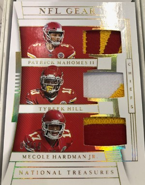 NFL Gear Trios Patrick Mahomes II, Tyreek Hill, Mecole Hardman Jr