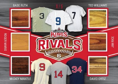 Rivals Relics Babe Ruth, Roger Marris, Mickey Mantle, Ted Williams, Jim Rice, David Ortiz MOCK UP