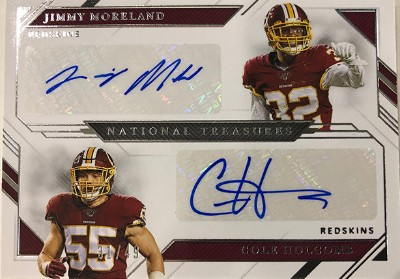 Rookie Dual Signatures Jimmy Moreland, Cole Holcomb