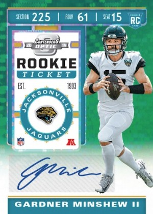 Rookie Ticket Auto Green Pulsar Gardner Minshew II MOCK UP