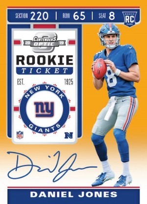 Rookie Ticket RPS Auto Gold Daniel Jones MOCK UP