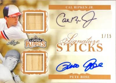 Signature Sticks 2 Auto Cal Ripken Jr, Pete Rose