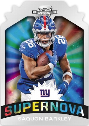 Supernova Die-Cut Saquon Barkley MOCK UP