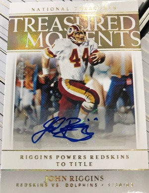 Treasured Moments Signature Holo Gold John Riggins
