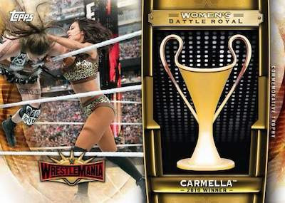 Women's Wrestlemania Battle Royal Commemorative Trophy Carmella MOCK UP