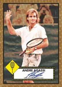 1952 Topps SuperFractor Auto Andre Agassi MOCK UP