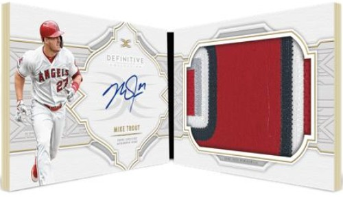 Auto Patch Book Mike Trout MOCK UP