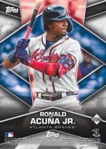 Base Card Back Ronald Acuna Jr