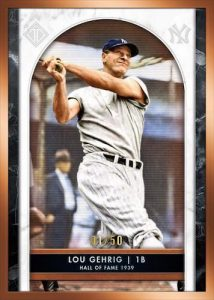 Base Hall of Fame Icons Lou Gehrig MOCK UP