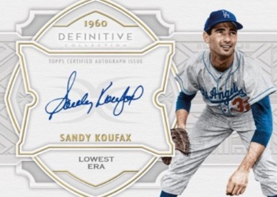 Defining the Decade Auto Collection Sandy Koufax MOCK UP