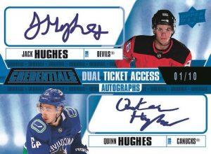 Dual Ticket Access Auto Jack Hughes, Quinn Hughes MOCK UP