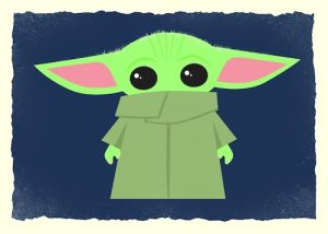 Illustrated Baby Yoda