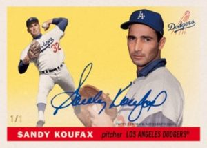 Sandy Koufax Through the Years Auto MOCK UP