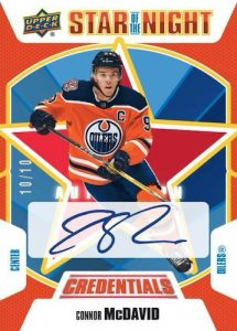 Star of the Night Auto Connor McDavid MOCK UP